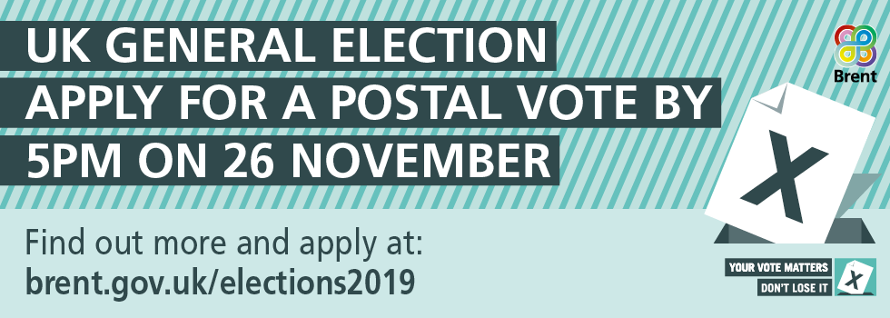 ✉️ Want to vote in #GeneralElection2019 by post? The deadline to register for a postal vote is 5pm on Tuesday 26 November: