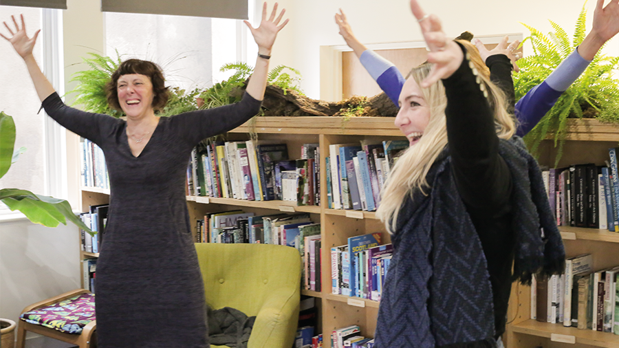 Our third wellbeing session with @zoepither - today we learned how to boost resilience, trust our strengths and work a power stance!  💪 https://t.co/6u0rOAJCu8