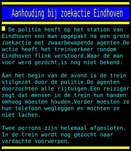test Twitter Media - Aanhouding bij zoekactie Eindhoven https://t.co/L2HpsiShTO