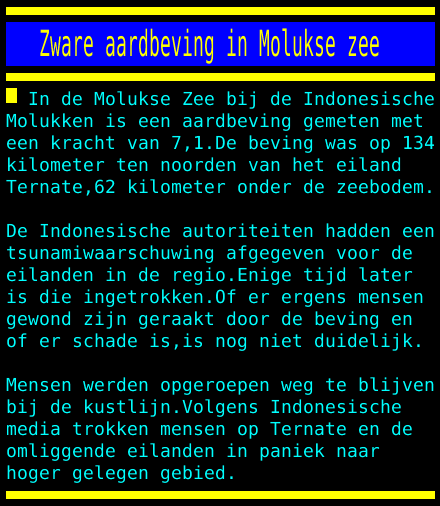 test Twitter Media - Zware aardbeving in Molukse zee https://t.co/N2wPYl7uxs