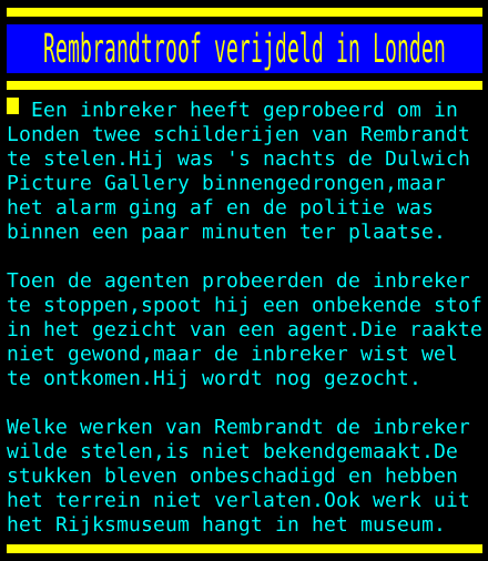 test Twitter Media - Rembrandtroof verijdeld in Londen https://t.co/y7zWmkcEJF