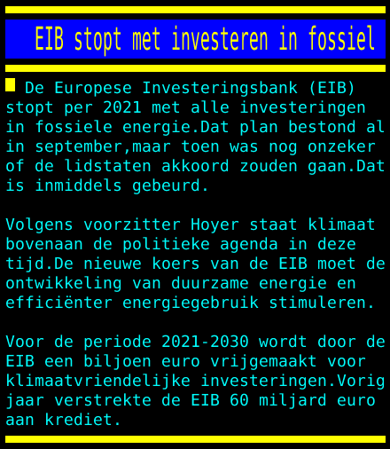 test Twitter Media - EIB stopt met investeren in fossiel https://t.co/OugorfSCKw