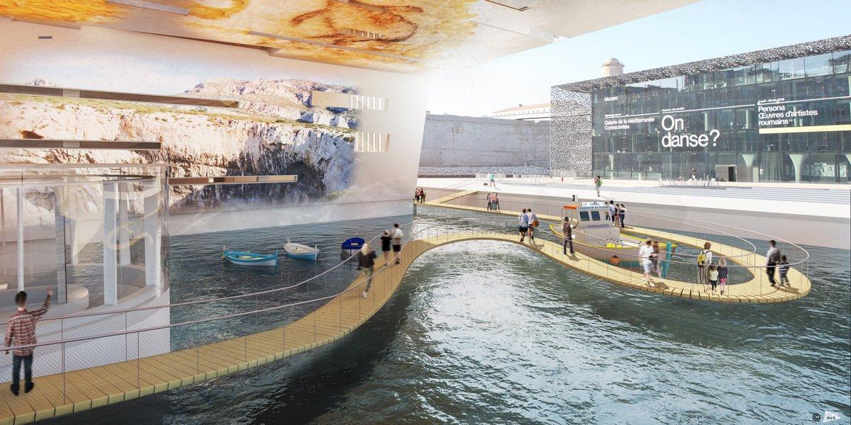 ⚓️ Embarquement immédiat ! ⚓️  Nous vous dévoilons en exclusivité le projet de la réplique de la Grotte Cosquer ! Le centre d'interprétation de ce trésor englouti ouvrira ses portes au public en juin 2022 à la Villa Méditerranée, à Marseille.  👉 👀