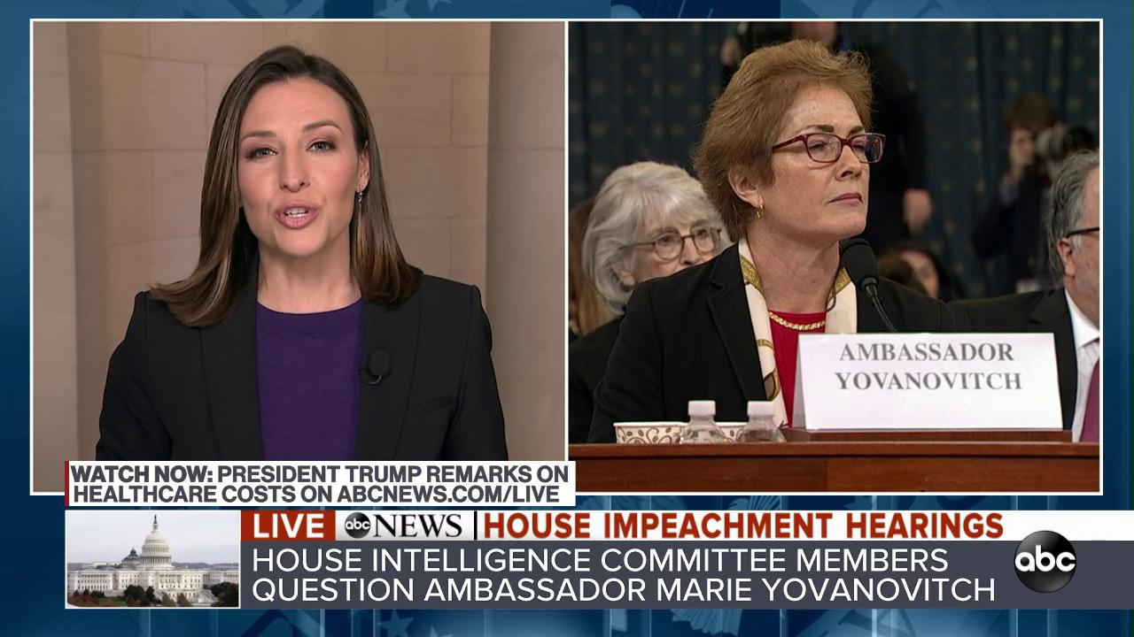"Republicans argued today that Marie Yovanovitch's testimony ""is irrelevant, because she can't speak to the heart of this impeachment inquiry,"" @marykbruce reports.  Democrats counter that she can speak to ""this shadow diplomacy that was being run by...Rudy Giuliani."" https://t.co/kizEQPHfzO"