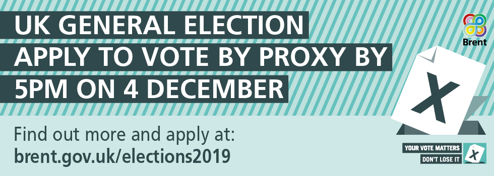 🗳️ Unable to vote in person in #GE2019 on 12 December? You can arrange for someone to vote on your behalf, known as a proxy vote.   Find out more and apply:   #YourVoiceMatters