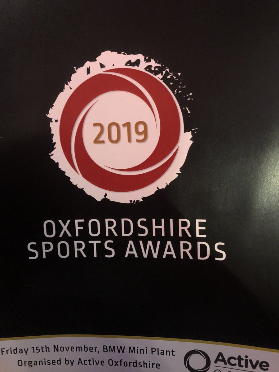 RT @MarkLygo: @activeoxon Absolutely great night at the Active Oxfordshire sports awards. Congratulations to all the winners at the #OxonSportsAwards. Well done to all the nominees & thank you you to the sponsors. #grassrootssports