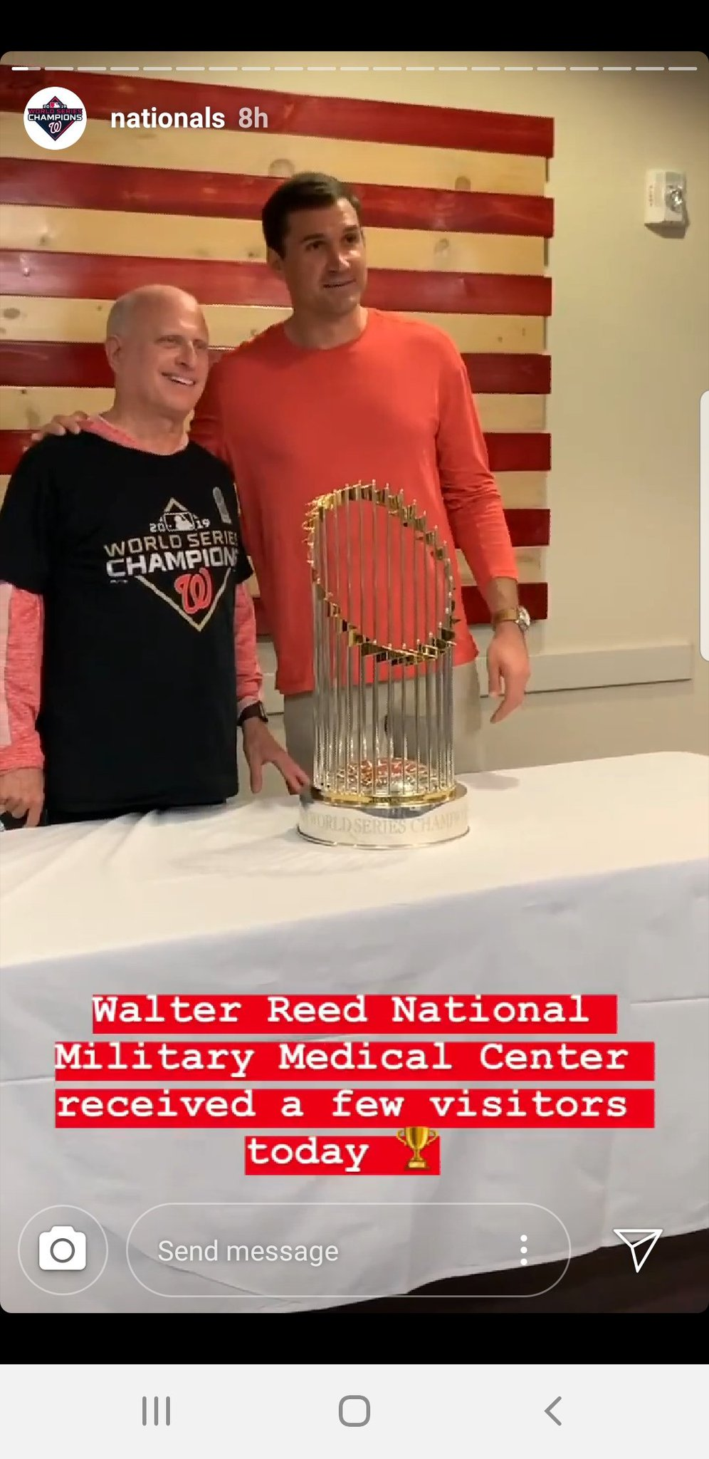 #Nats news... Walter Reed had a few visitors today https://t.co/oUChFAbL4Z