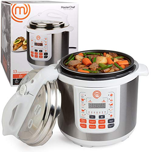 test Twitter Media - MasterChef 13-in-1 Pressure Cooker- 6 QT Electric Digital MultiPot w 13 Programmable Functions- High and Low Pressure Cooking Options, LED Display, Delay Timer and Non-stick Pot https://t.co/iKXHeasB5E https://t.co/7QJLPnFL4e