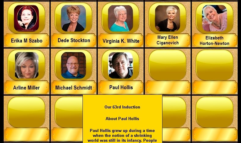 """What a wonderful Sunday for celebrating. Everyone welcome our 63rd Induction (Paul Hollis) on the """"Indie Authors Wall of Fame""""...  @HollowManSeries"""