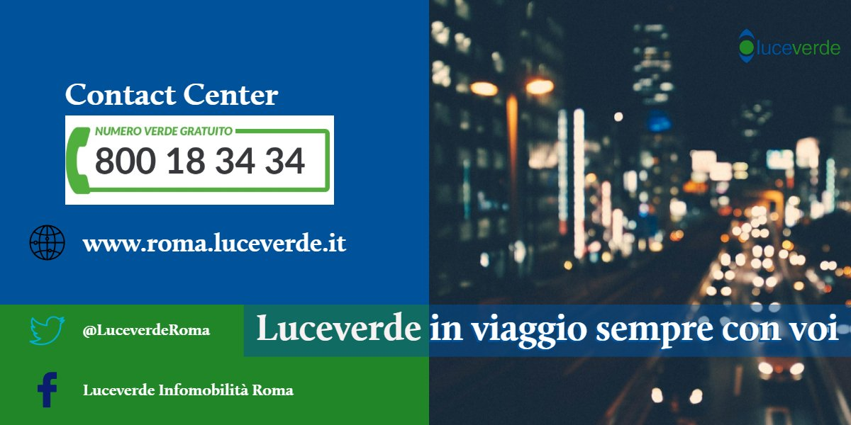 test Twitter Media - Per oggi il servizio termina qui. @LuceverdeRoma augura a tutti una buona serata!#luceverde https://t.co/07rRATPTW2