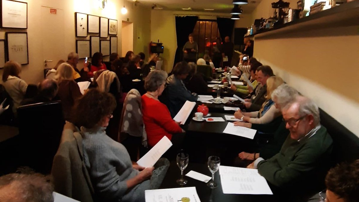 test Twitter Media - RT @oliviaedawson: Great audience for Lisbon/Cascais @PoetrySociety Stanza group reading 😊 https://t.co/xHwJ7QrfFY