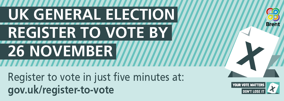 🗳️ Are you registered to vote in #GeneralElection2019? Visit  by midnight on Tuesday 26 November with your National Insurance number. It takes just 5 minutes! #YourVoiceMatters