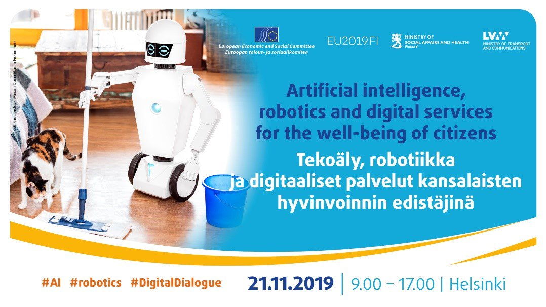 test Twitter Media - 📡 Don't forget, this week in #Helsinki !   The @EESC_INT with @EESC_TEN are co-organising an event on #ArtificialIntelligence #robotics and #digitalservices for the #wellbeing of citizens.   For more information: https://t.co/1ZKUlPeOz7   #AI #DigitalDialogue https://t.co/RhwcGkMlSP