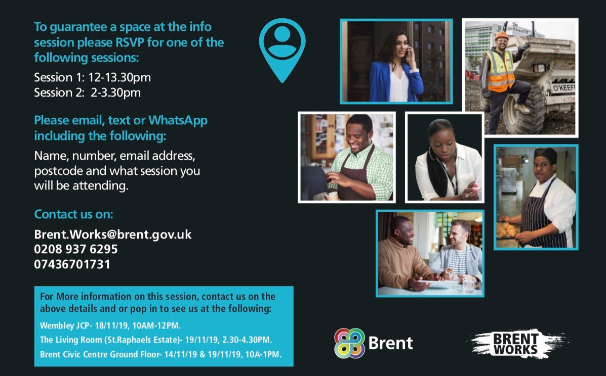 Want to start 2020 with a bang? Learn more about #BrentApprenticeships on 28th November. at The Yellow Community Centre. At 1 Humphry Repton Lane, Wembley HA9 0GL To hear about apprenticeships within your council, register now on 0208 937 6295 or email brent.works@brent.gov.uk