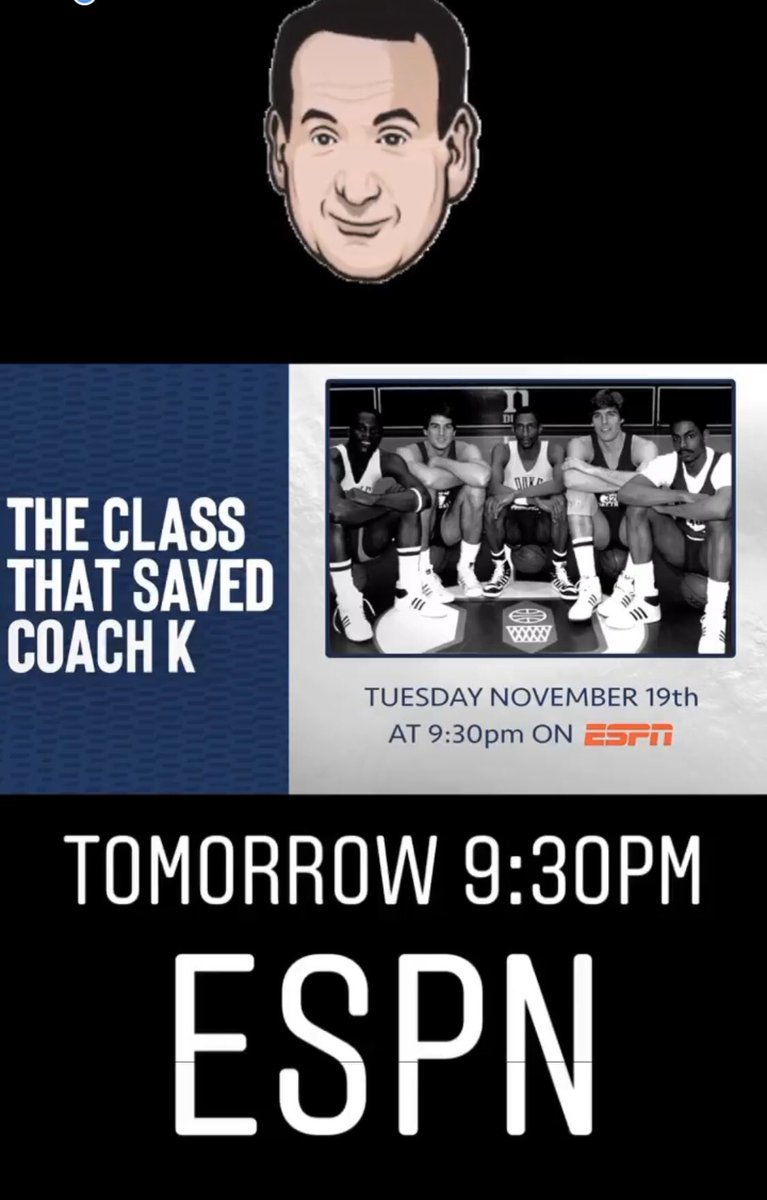 """""""The Class That Saved Coach K,"""" Tuesday at 9:30 on ESPN."""