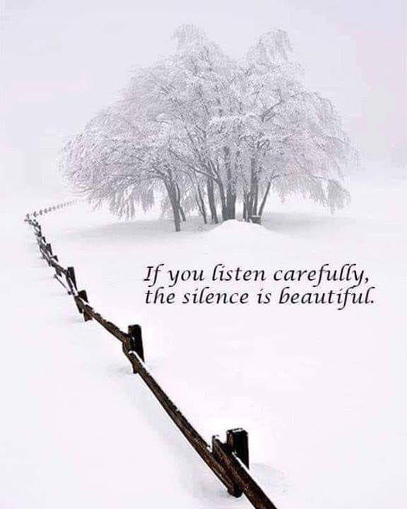 On silence ❄️ #MondayMood