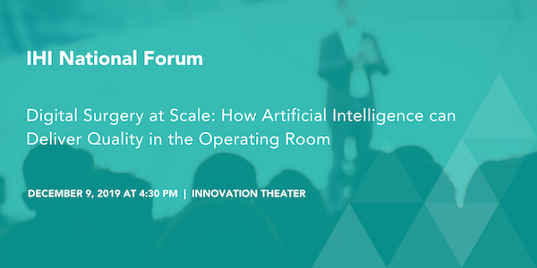 test Twitter Media - Join Huzefa Neemuchwala as he discusses the future of  #digitalsurgery in the Innovation Theater on December 9. #IHIForum #ArtificialIntelligence https://t.co/bzdyhHKh33