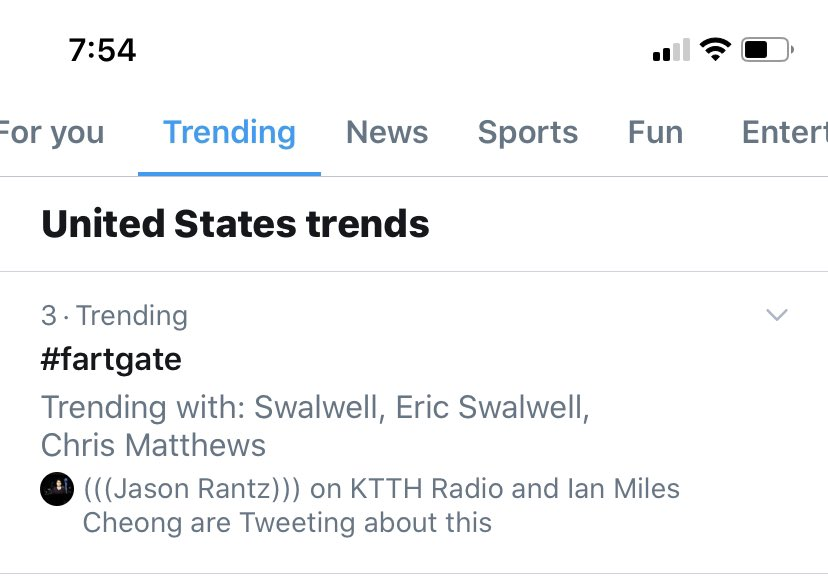 #FartGate is trending #3 nationally