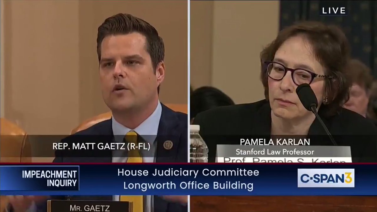 ".@RepMattGaetz: ""If you have personal knowledge of a single material fact in the #SchiffReport, please raise your hand . . . Let the record reflect, no personal knowledge of a single fact."""