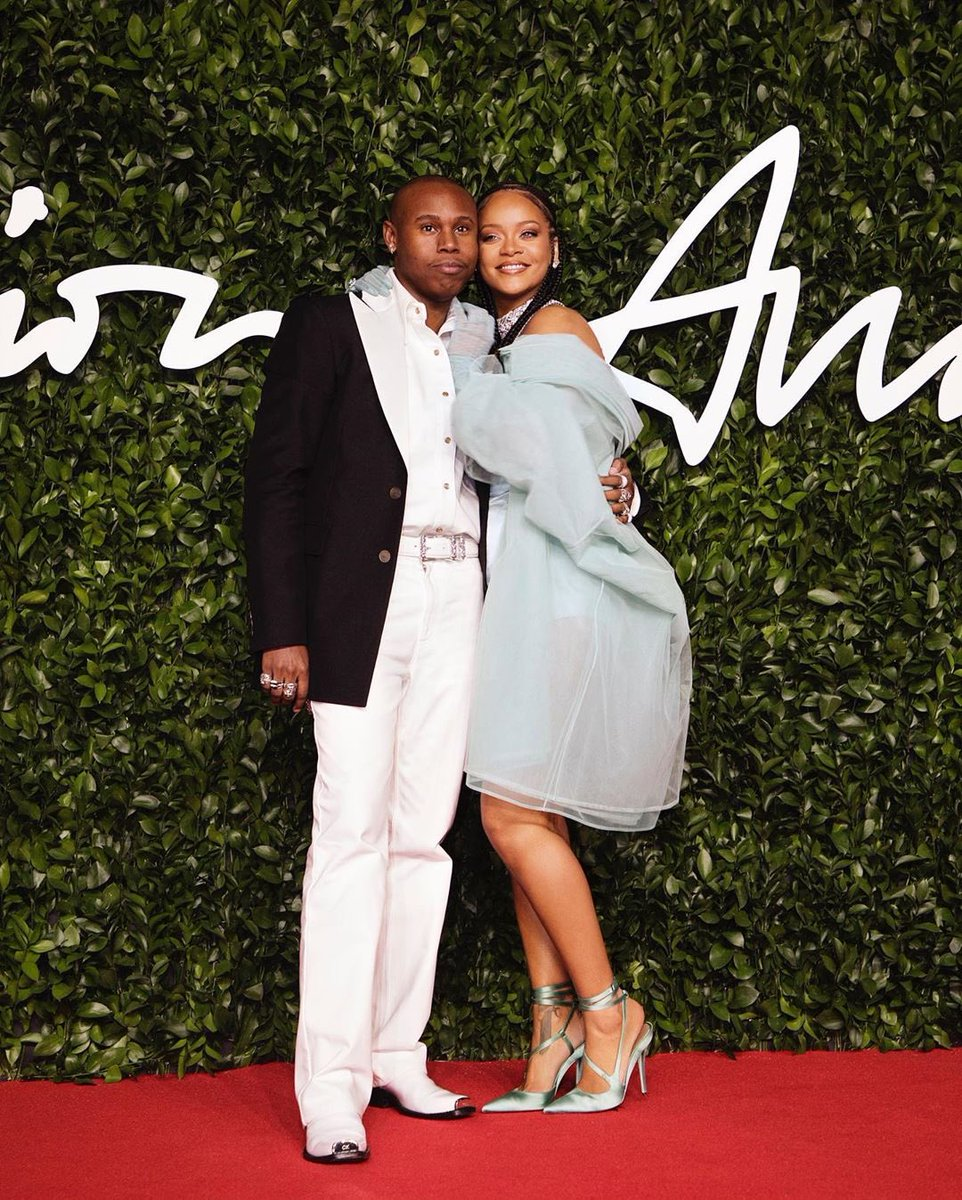 Big ups to my gusband Jahleel. Thank you for being a true rider! Look at us bro!!! And thank you @asvpxrocky for representing us on the carpet and always being so supportive of @FentyOfficial !! And to the epic duo that presented, thank you! @tylerthecreator and @janetjackson ! https://t.co/QljxwbGxR4
