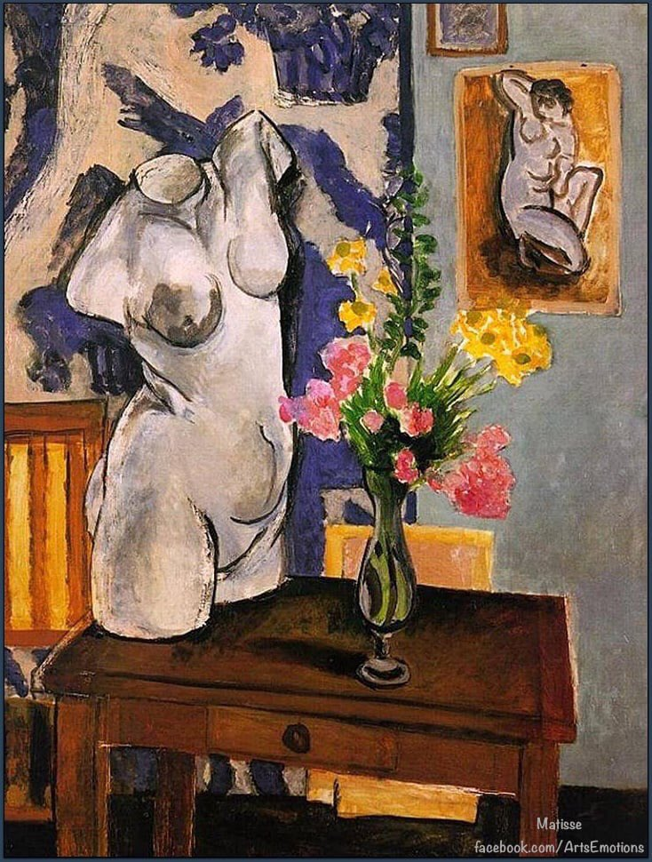 """""""Torso and Flowers"""".(1919) By Henri Matisse.French painter Museu of Art Sao Paulo /Sao Paulo/Brazil https://t.co/iqPigBCqr5"""