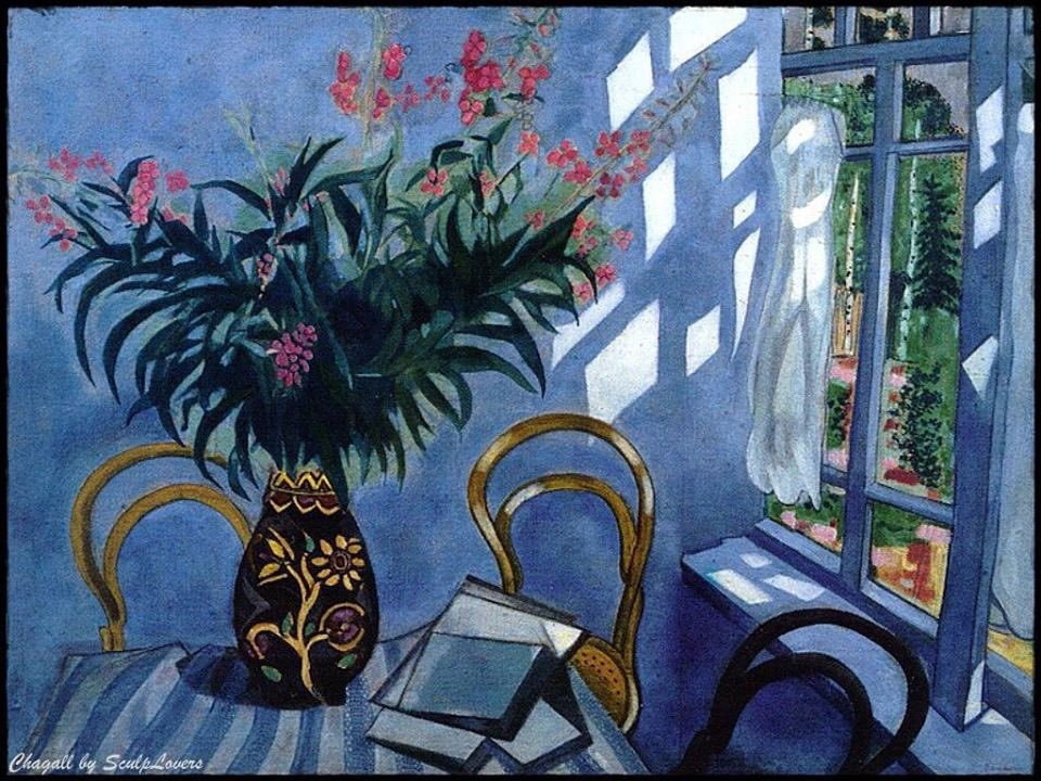 """""""Interior with Flowers"""".(1918)_ By Marc Chagall https://t.co/z8RFyN5Doo"""