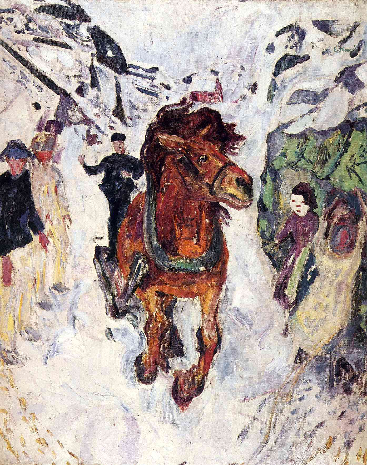 Galloping horse, 1912 #munch #norwegianart https://t.co/meVBNJfGl4
