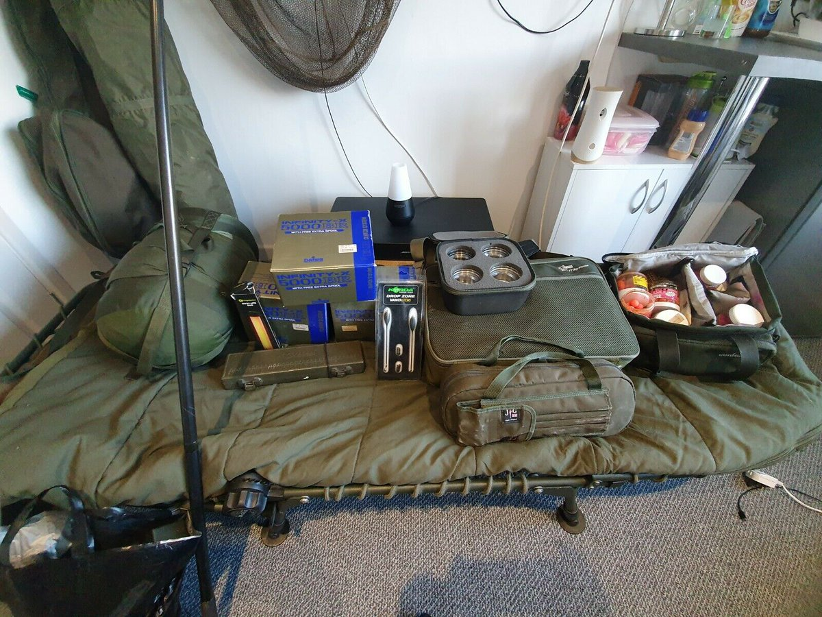 Ad - Full carp fishing set-up for sale On eBay here -->> https://t.co/yFhhdkAVny  #carpfishing