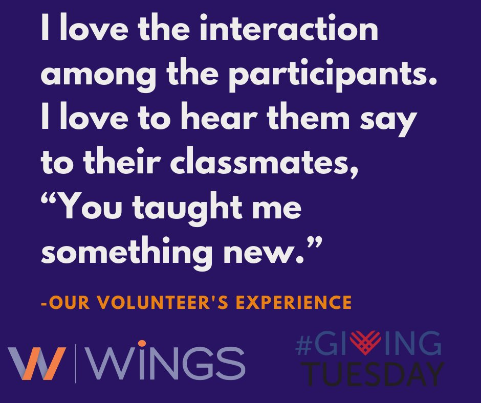 test Twitter Media - Every single time we sit in on a class at WiNGS, we learn something new from the members. Our amazing volunteers contribute time to make our classes memorable, and donors give to make our programs possible. Thank you, #GivingTuesdayDFW! Give: https://t.co/XxnWNHhB9a today! :) https://t.co/dLQ11U7oSA