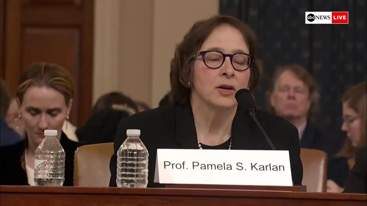 "Pamela Karlan: ""Contrary to what President Trump says, Article Two does not give him the power to do anything he wants.""  ""The Constitution says there can be no titles of nobility, so while the president can name his son Barron, he cannot make him a baron"""