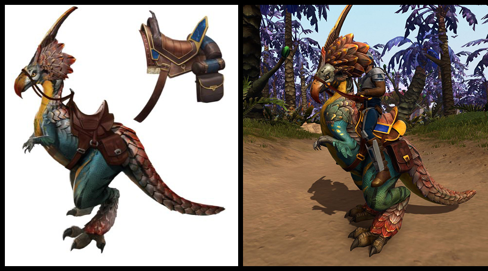 test Twitter Media - The Adorned Grefna Mount is available for players who reach Legend status with their faction on Onderon! Here is a comparison between its concept art and the final version. https://t.co/AYXod3T1OL