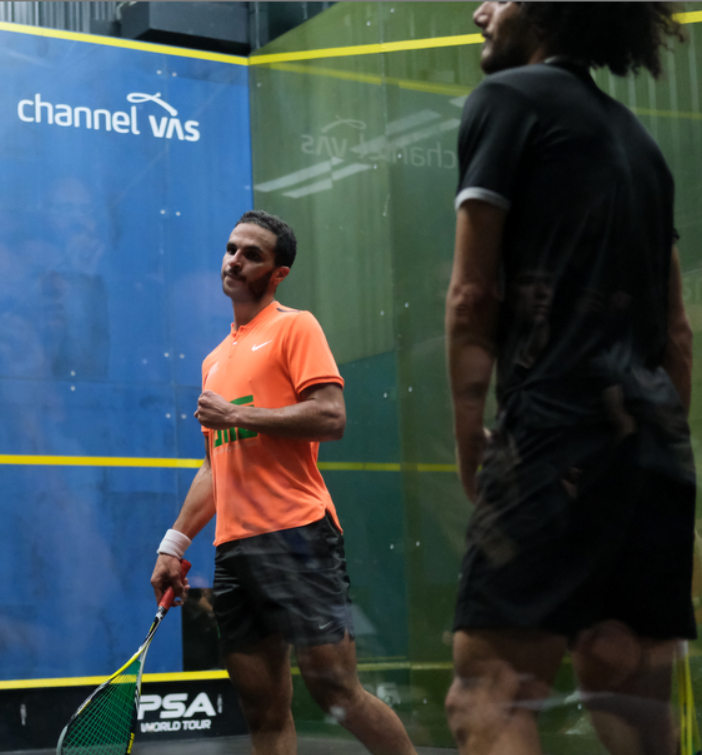 It's @mabouelghar through to the semis in five ...  [5] Mohamed Abouelghar (Egy) 3-2 Mazen Hesham (Egy) 11-8, 11-7, 3-11, 9-11, 11-7 (78m) https://t.co/54r9b6fp0i