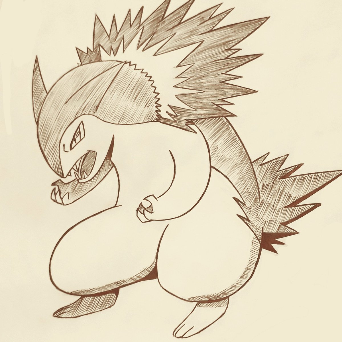 15- Fav fire type: Typhlosion🔥  #inktober #pokemon #poketober
