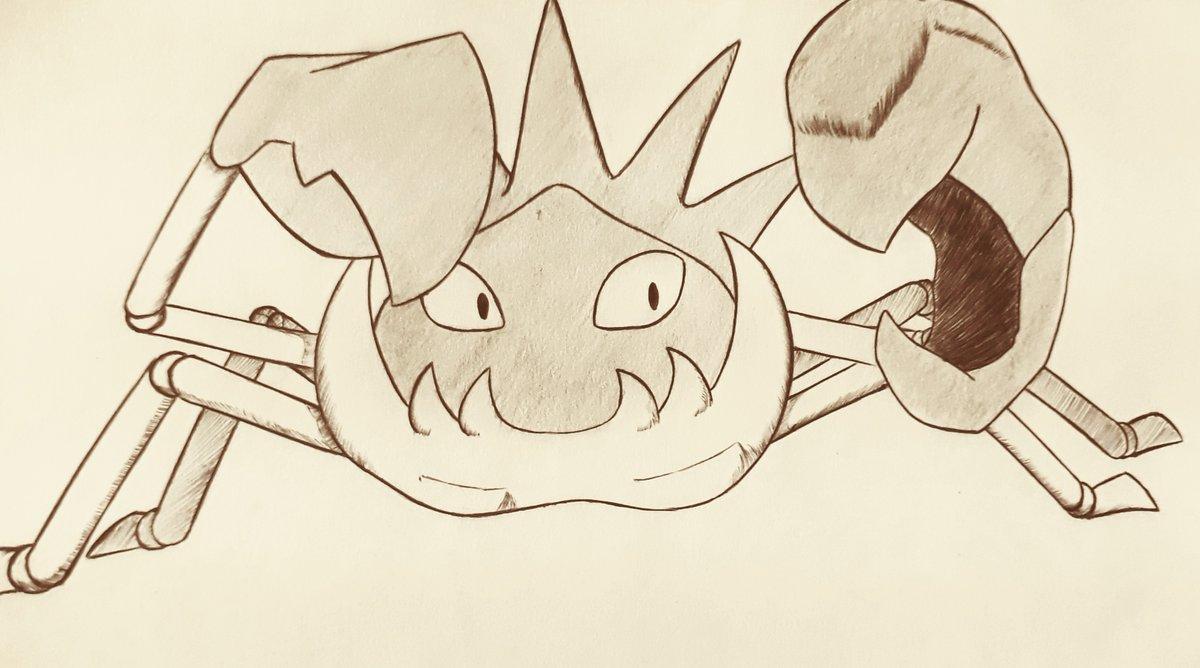 16- favorite Water type: Kingler 🦀💦  #inktober #pokemon #poketober