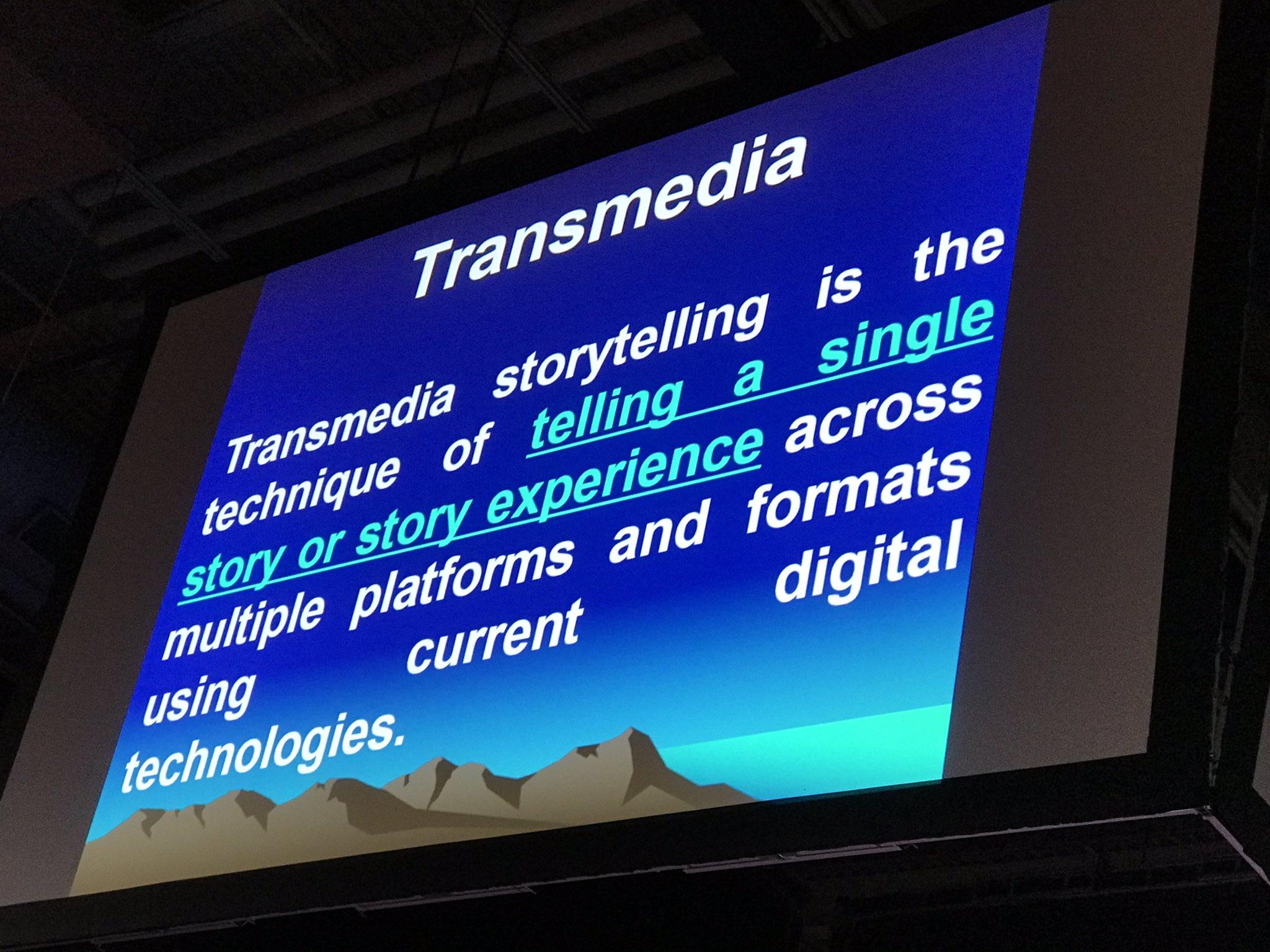 Telling a story through multiple platforms = #transmedia -Don Marinelli #keynote #NYSCATE19 https://t.co/0LAea4vK77