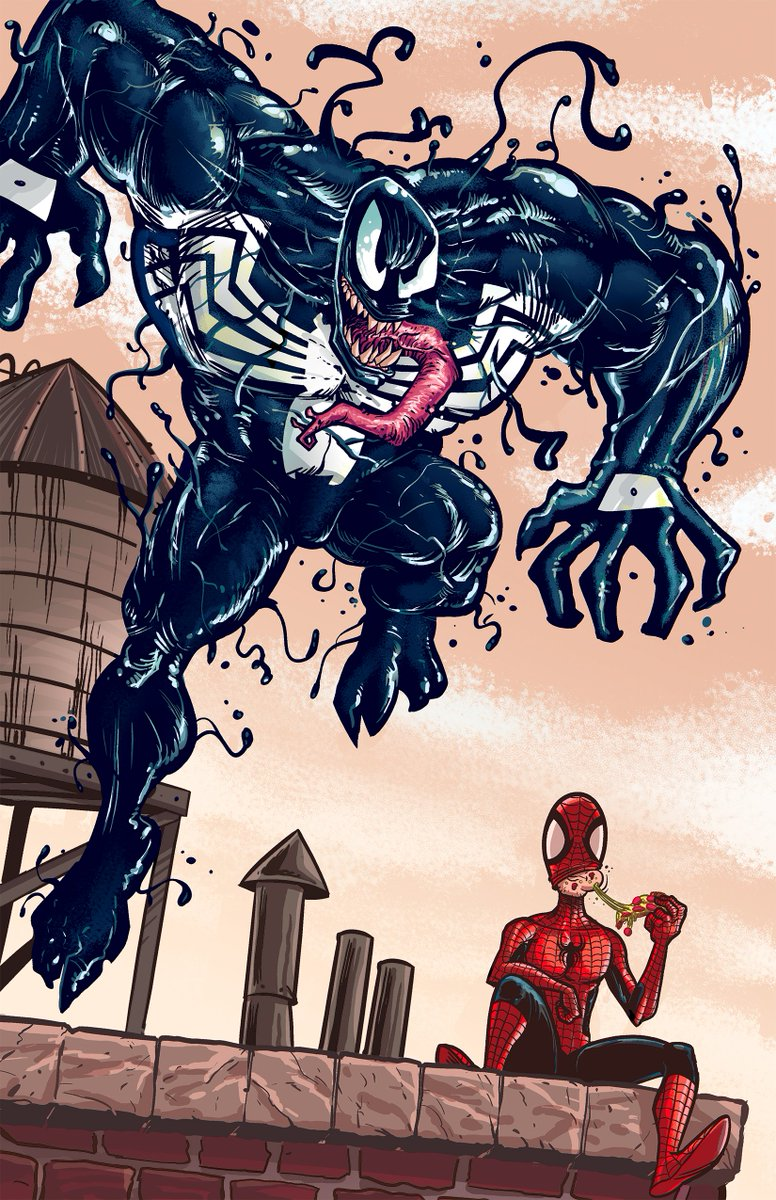 A little Monday Venom.   #Spiderman #Venom #Eddiebrock #Art #Marvel #Sketch