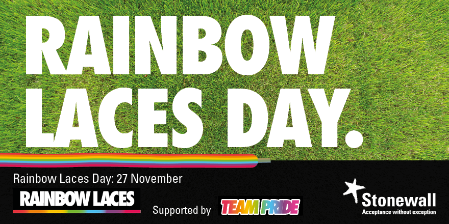 RT @stonewalluk: Happy #RainbowLacesDay! We hope you're laced up with pride. Find out how we can all play our part to make sport everyone's game. #RainbowLaces 🏳️‍🌈 https://t.co/LMcvJaleQl