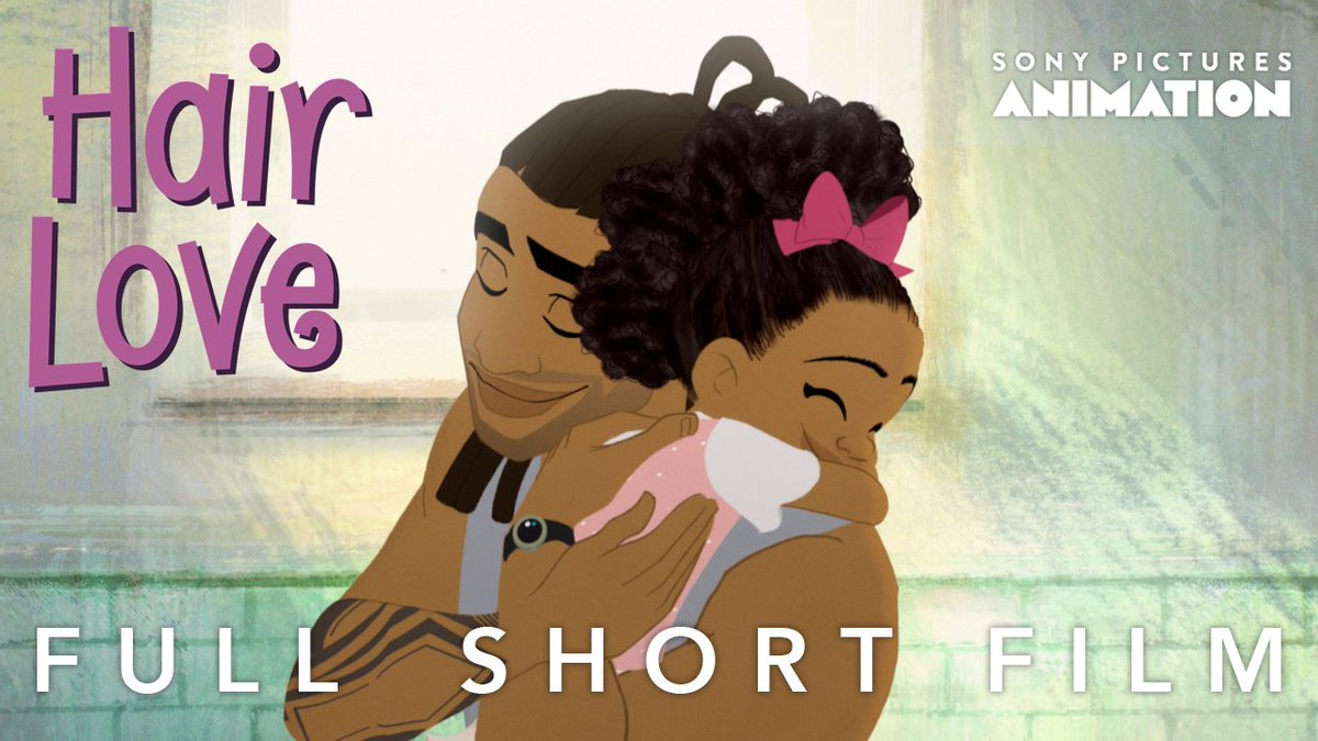 #HairLove is live! It's an animated short film about an African American father learning how to do his daughters hair for the first time. Written & Directed by me, co-directed by @BruceAlmighteee @Mr_Scribbles & stars @IssaRae.   @SonyAnimation #HairLove