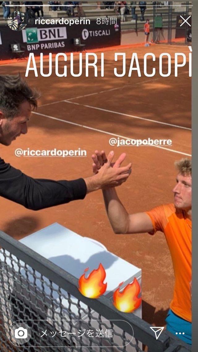 test Twitter Media - ヤコポのコーチ関連と同年代のフォニオとカルアナからお祝い🥰 カルアナとは去年 @CCAniene で同じチームで、ヤコポは #SerieA を頑張ってました。 セリエAでは兄弟ダブルスもしていたけど、いつかATPレベルでマッテオと組んで下さい‼️ #テニスイタリア Jacopo #Berrettini https://t.co/rE7EMhNR3G