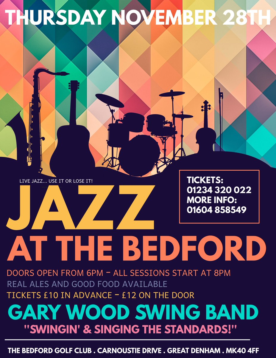test Twitter Media - Tonight is our last jazz night of 2019!   Give us a call on 01234 320 022 to get your tickets at the discounted rate of £10 in advance.  We'd love to see you there to end 2019's Jazz at The Bedford with The Gary Wood Swing Band 'Swingin and Singing the Standards!' https://t.co/tKcokSqoJs