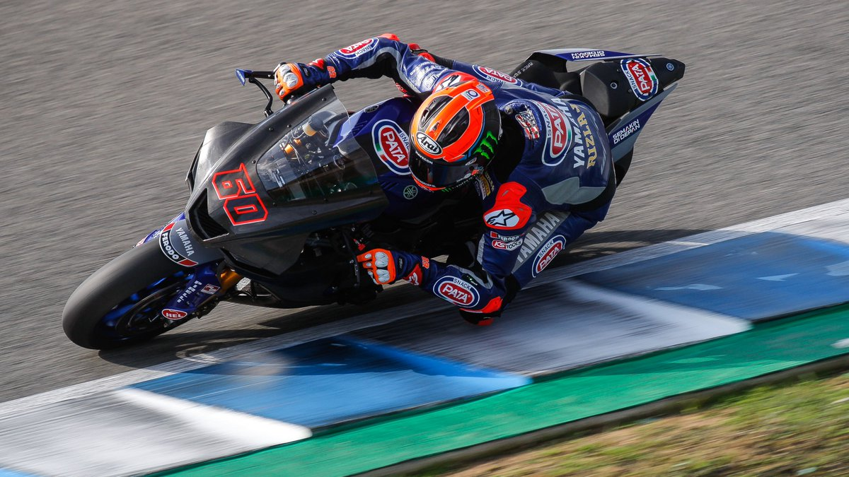 test Twitter Media - ✊🏻@mickeyvdmark hits first at mid-day on day two of Jerez testing  The Dutchman pips KRT duo led the way, whilst Yamaha are once again in close contention with just a few hours remaining…  📃REPORT | #WorldSBK https://t.co/S7v5ncPWEx https://t.co/LazjpciKOJ