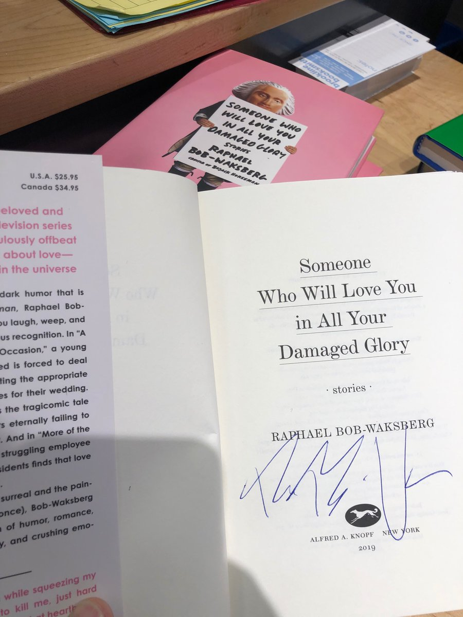 Good news, Boston metropolitan area! I just signed four copies of my book Someone Who Will Love You in All Your Damaged Glory at Brookline Booksmith! Get 'em while they're fresh!