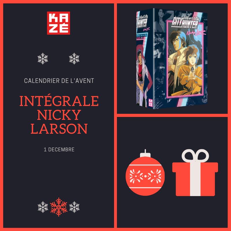 🎁🎁C'est parti pour le #calendrierdelaventavecKazé ! 🎁 Chaque jour sur Twitter, on vous offre de jolis cadeaux ! On commence aujourd'hui avec le coffret intégral #NickyLarson ! 🚩Pour participer 🚩 ▪ RT ▪ Follow @KazeFrance 💥Tirage au sort demain !😃 #calendrierdelavent