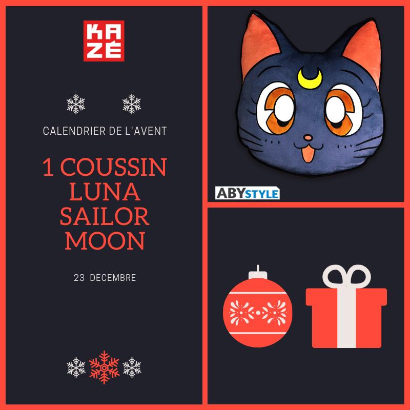 🎁🎁Remportez un tout mignon coussin Luna @SailorMoon chez @_ABYstyle !  🚩Pour participer 🚩  ▪ RT  ▪ Follow @KazeFrance et @_ABYstyle  💥Tirage au sort demain !😃  #calendrierdelavent