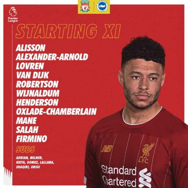 The team news is in! What do we think, Reds?! #LFC https://t.co/sacIWhBdkc
