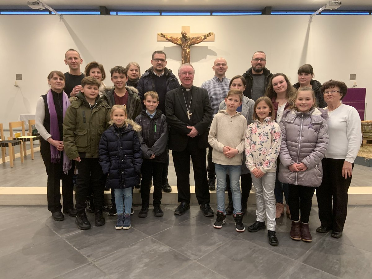 test Twitter Media - I'm on Pastoral Visitation to St Bede's in Basingstoke this weekend. Here I am with some of the Polish Prayer Group that meets every Sunday afternoon to pray the Rosary. https://t.co/sUz74qujW8