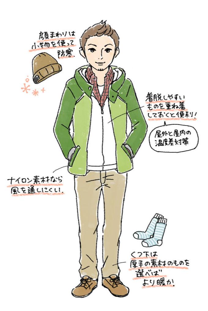 test ツイッターメディア - @fusion_kiddos よかったです!男性の服装の1例はこんな感じですね。後の画像ほど寒さ指数が高くなります。 少なくとも、この時期コートやダウンジャケットを身につけずに、シャツ1枚で歩いている人はいないです。 https://t.co/mWflXkWXPM https://t.co/of9obqhIn7