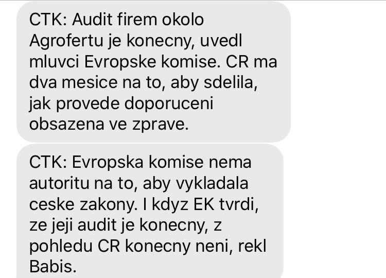 To je jak z Orwella...   @andrejbabis, který český zákon říká, ze konečný audit EU není konečný? https://t.co/YyAyAu4RyS
