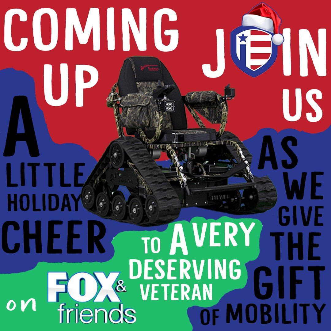 We will be giving the gift of Mobility at 8:20am this morning on @foxandfriends with @PeteHegseth, @edhenry and @RCamposDuffy. Tune into @FoxNews now!