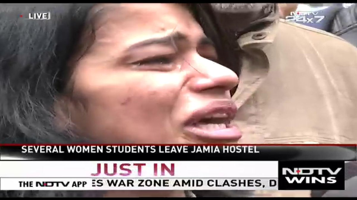 "Watch | ""They entered our hostels... Is this democracy? What wrong did we do? We were simply protesting"": Student recounts police crackdown at #JamiaMillia university yesterday.   #CitizenshipAct #DelhiProtests #Jamia"